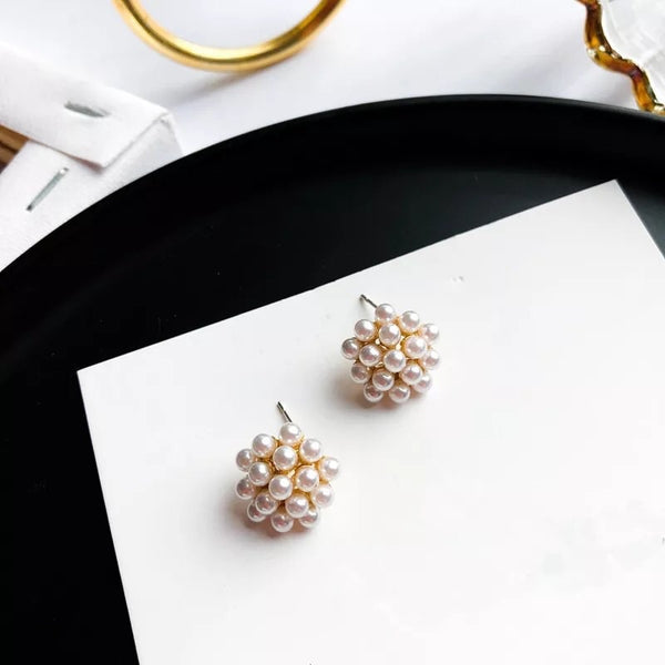 Pearly Dandelion Puff Earrings - 7️⃣ LEFT - The Songbird Collection