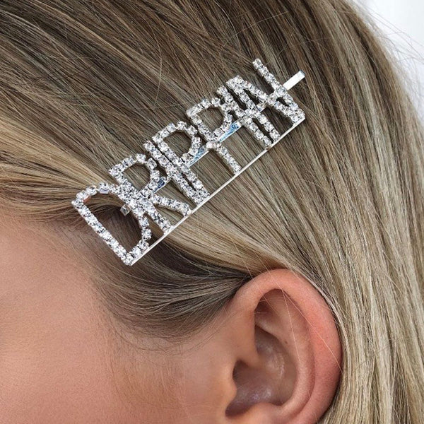 DAMN DRIPPIN GLAM Rhinestone Hair Pins - over 20 words available! - The Songbird Collection