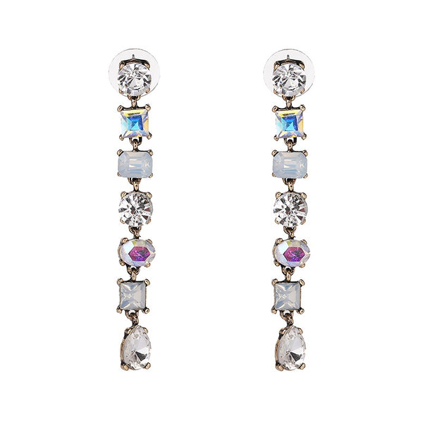 Rania Crystal Drop Earrings - The Songbird Collection