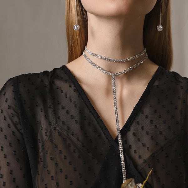Kira Kira Rhinestone Drop Choker - LOW STOCK !! - The Songbird Collection