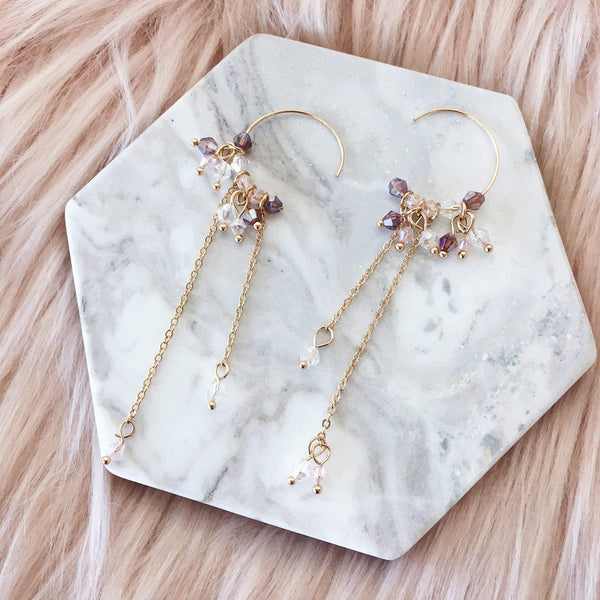 Cia Crystal Beads Earrings - The Songbird Collection