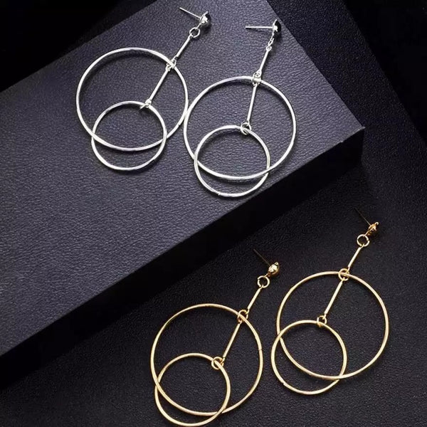 Nikki Drop Hoops Earrings - RESTOCKED! - The Songbird Collection