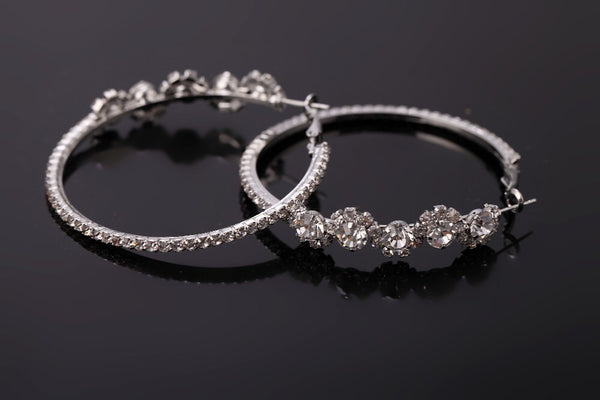 Flora Crystal Hoop Earrings - The Songbird Collection
