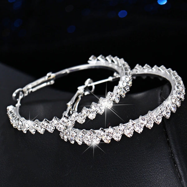 Zig Zag Bling Hoop Earrings - LAST CHANCE! Low Stock!! - The Songbird Collection