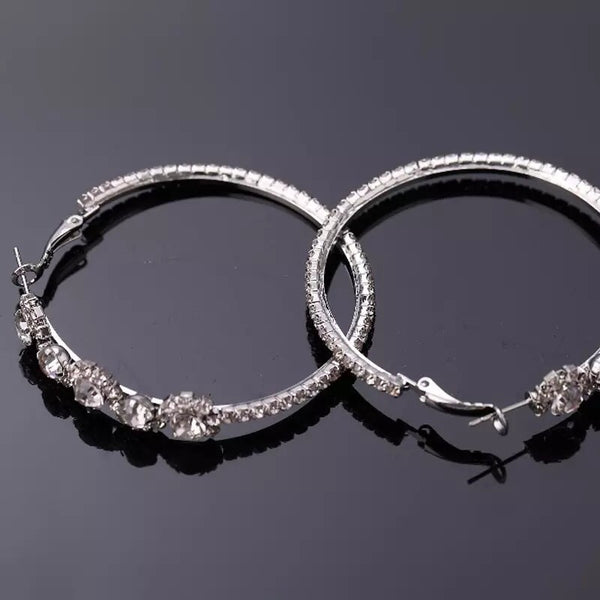 Flora Crystal Hoop Earrings- Yasss! RESTOCKED!! - The Songbird Collection