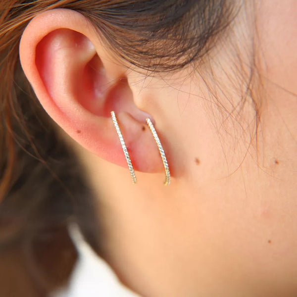 Layla Earlobe Hugger Earrings 925 Sterling Silver - YASSS! RESTOCKED! - The Songbird Collection