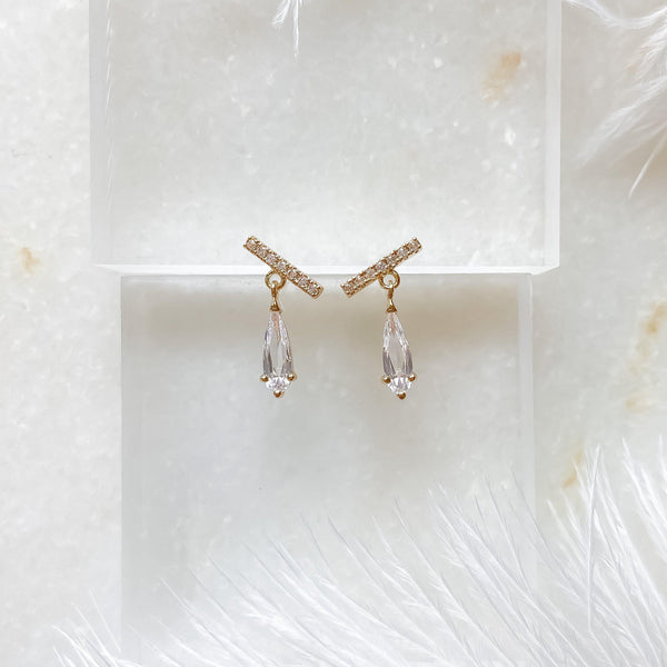 Liara Mini Crystal Drop Earrings - The Songbird Collection