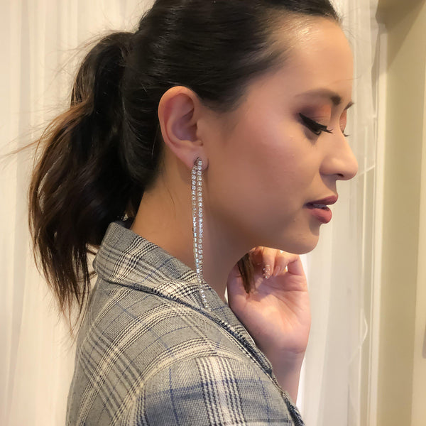 Reina Rhinestone Duster Ear Jackets - LOW STOCK !! - The Songbird Collection