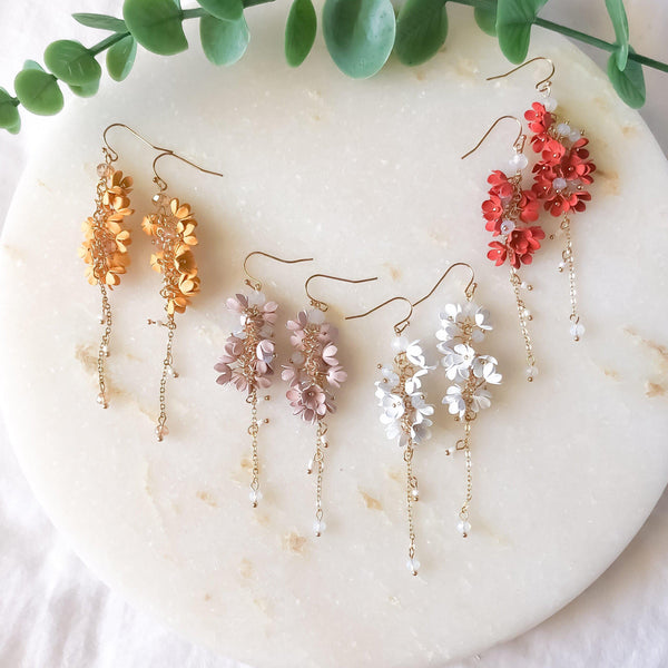 Angelica Flower Drop Earrings - 4 Colors IN Stock! - The Songbird Collection