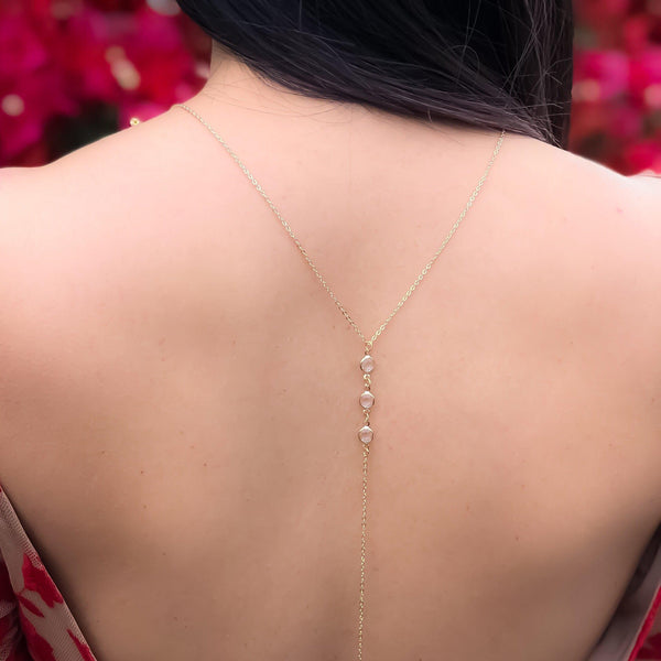 Morning Dew Backdrop Necklace - #1 BEST SELLER - The Songbird Collection