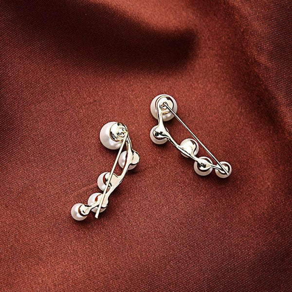 Modern Pearl Bass Clef Earrings - Almost SOLD OUT