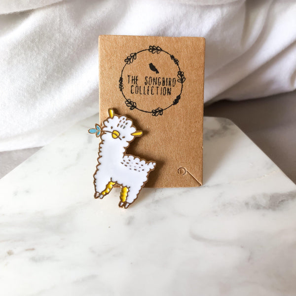 Alpacas and Llamas Enamel Pins - The Songbird Collection