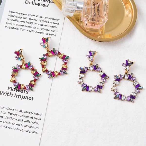 Crystal Wreath Earrings - 3 Colors LAST CHANCE! - The Songbird Collection