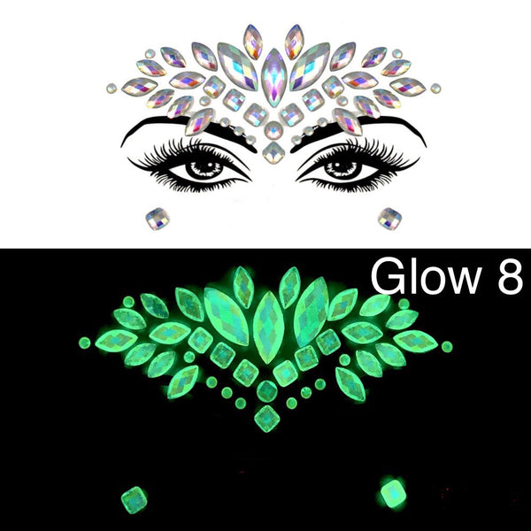 Glow in the Dark Face Gems - 1️⃣0️⃣ Designs! - The Songbird Collection