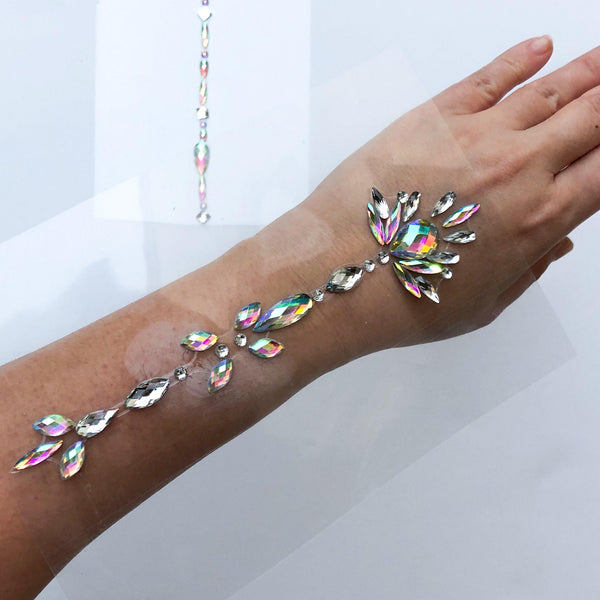 Sparkle Body Gems for Arms, Chest, or Back - The Songbird Collection