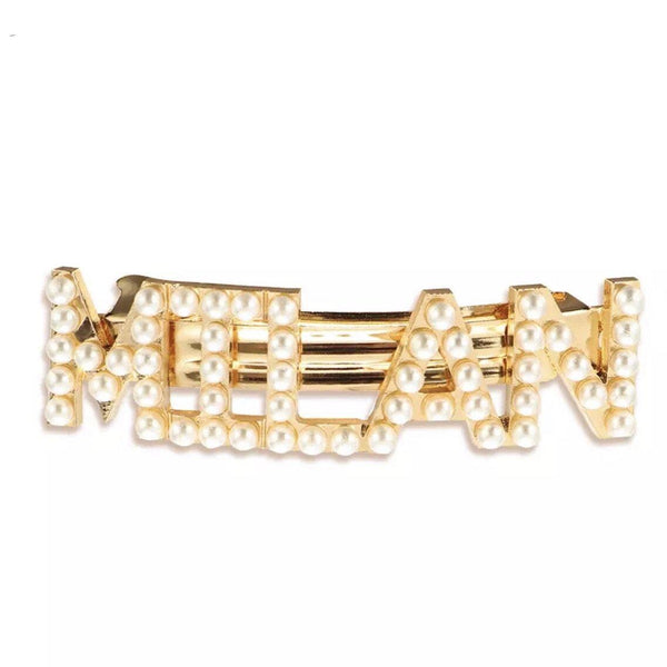Jet Setter Pearl Hair Barrettes - LAST CHANCE! - The Songbird Collection