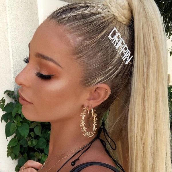 DAMN DRIPPIN GLAM Rhinestone Hair Pins - 16 WORDS RESTOCKED!!!! - The Songbird Collection