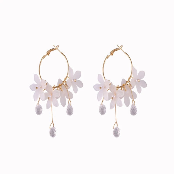 Desi Floral Hoop Earrings - restocked! - The Songbird Collection