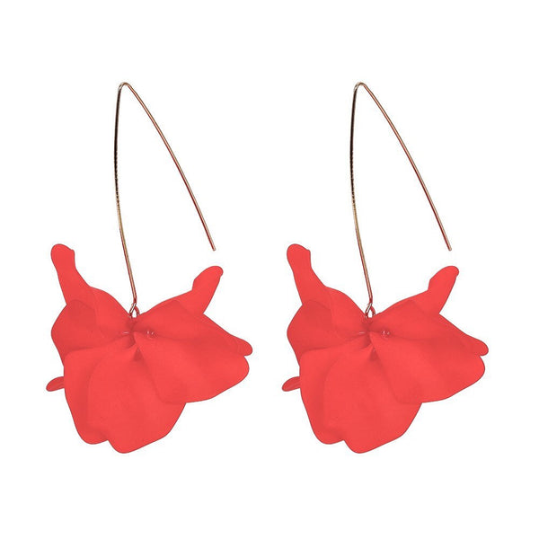 Cyclamen Petal Drop Earrings - 9 Colors LOW STOCK!! - The Songbird Collection