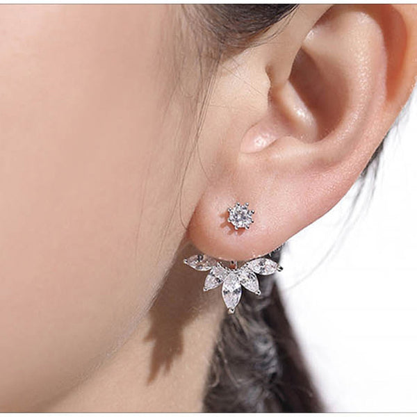Tiara Ear Jacket Earrings