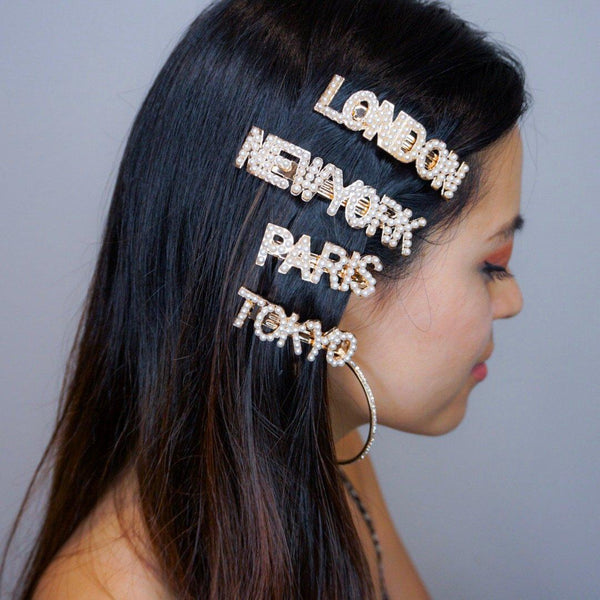 Jet Setter Pearl Hair Barrettes - The Songbird Collection