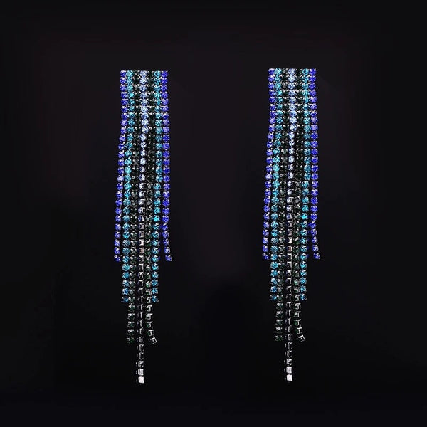 Rhea Rhinestone Duster Earrings - 7 Colors LOW STOCK!! - The Songbird Collection