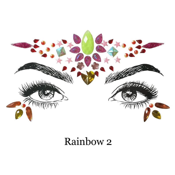 🌈 Rainbow Blast Face Gems 💎 8 Colorful Designs! - The Songbird Collection