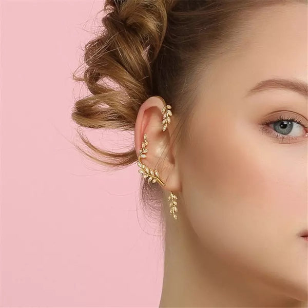 Laurel Leaf Ear Hook / Ear Cuff - 1 LEFT