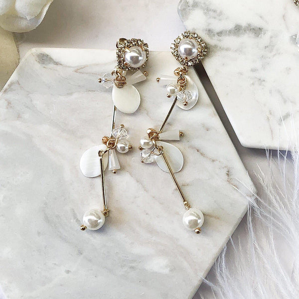 Isabella Pearl Drop Earrings
