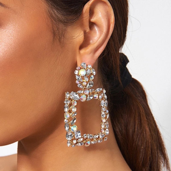 Crystal Brilliance Statement Earrings - 3 Colors!