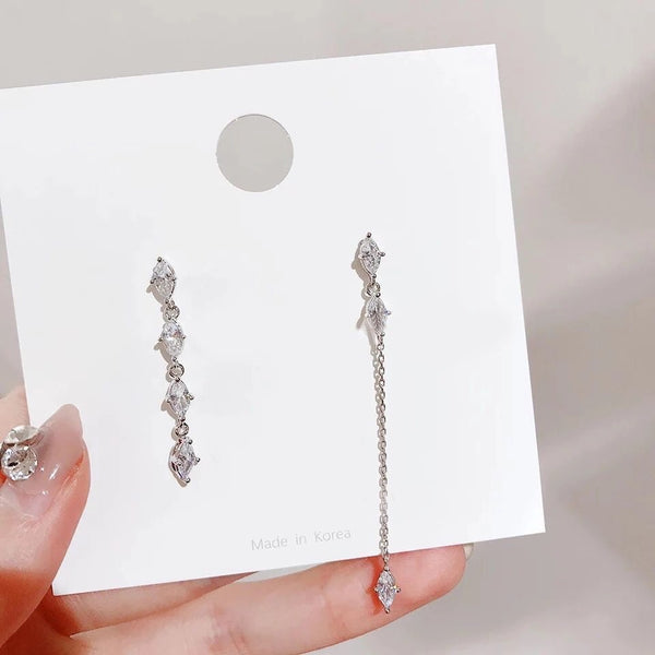 Cozette Asymmetric Crystal Drop Earrings - Low Stock & LAST CHANCE!! - The Songbird Collection