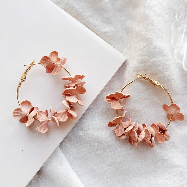 Anielle flower hoops Earrings - 4 Colors LOW STOCK!! - The Songbird Collection