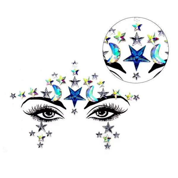 🌙 Moon & Stars Face Gems ✨💎 2 Colors! RESTOCKED! - The Songbird Collection