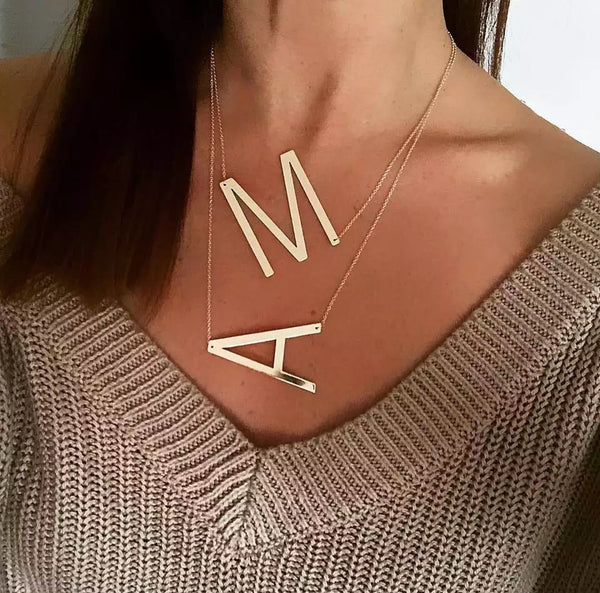 ABCs and XYZs Letter Statement Necklace - The Songbird Collection