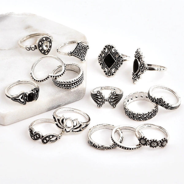 Malefi 15 Piece Ring Set - The Songbird Collection