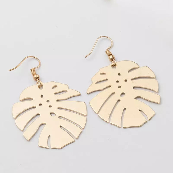 Monstera Tropical Leaf Earrings - 6️⃣ LEFT - The Songbird Collection