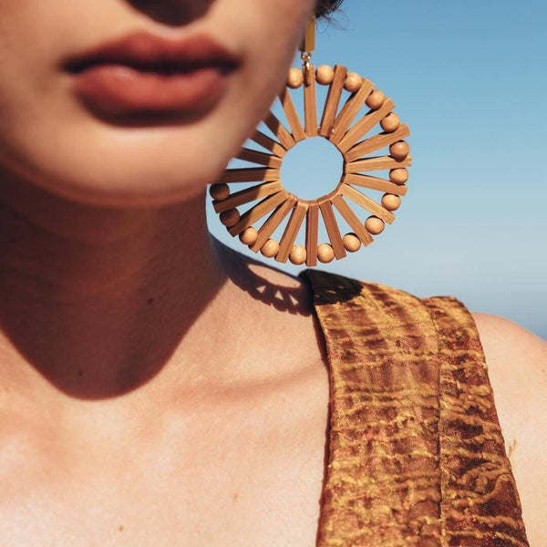 Playa Rica Wooden Statement Earrings- 4 LEFT! - The Songbird Collection