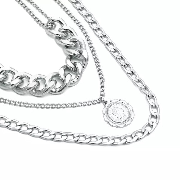 Letizia Layered Chain Necklace - LOW STOCK!!! - The Songbird Collection