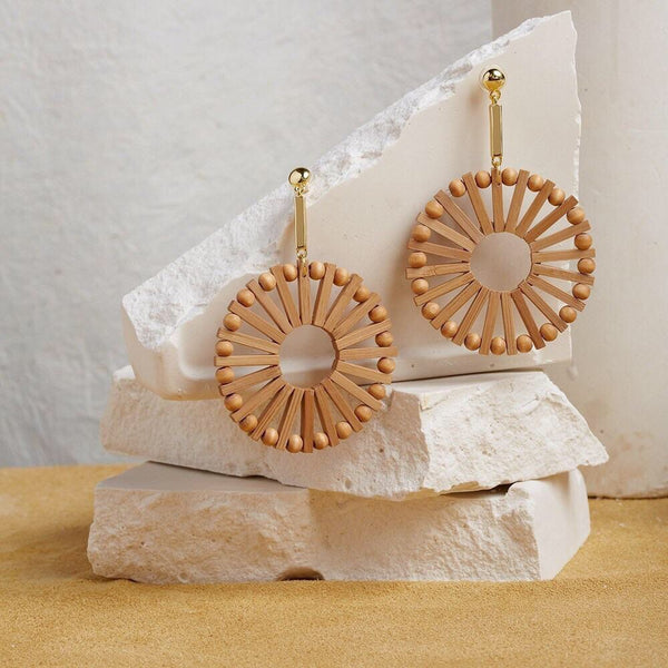 Playa Rica Wooden Statement Earrings - The Songbird Collection