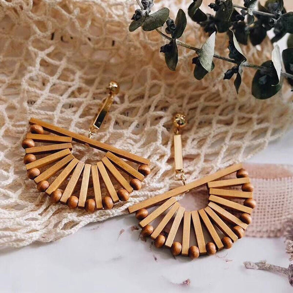 Costa Rica Wooden Statement Earrings - The Songbird Collection