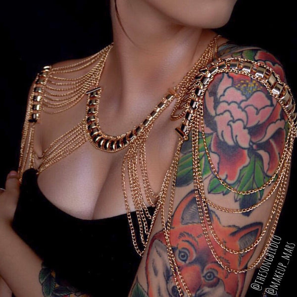 Golden Goddess Shoulder Chains - LOW STOCK! Last Chance!! - The Songbird Collection