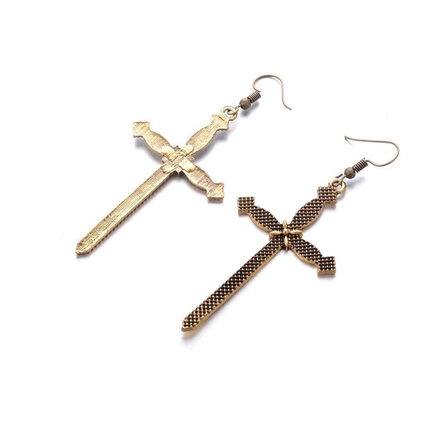 Sanctus Gothic Cross Earrings - RESTOCKED!