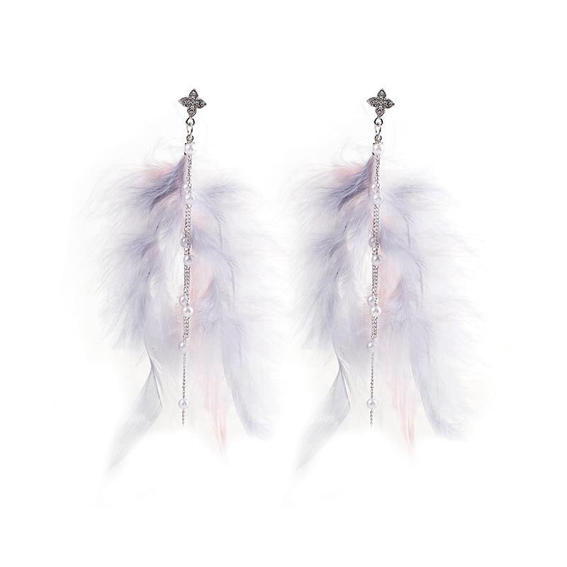 Heaven Feather Earrings - 3 COLORS LOW STOCK! - The Songbird Collection