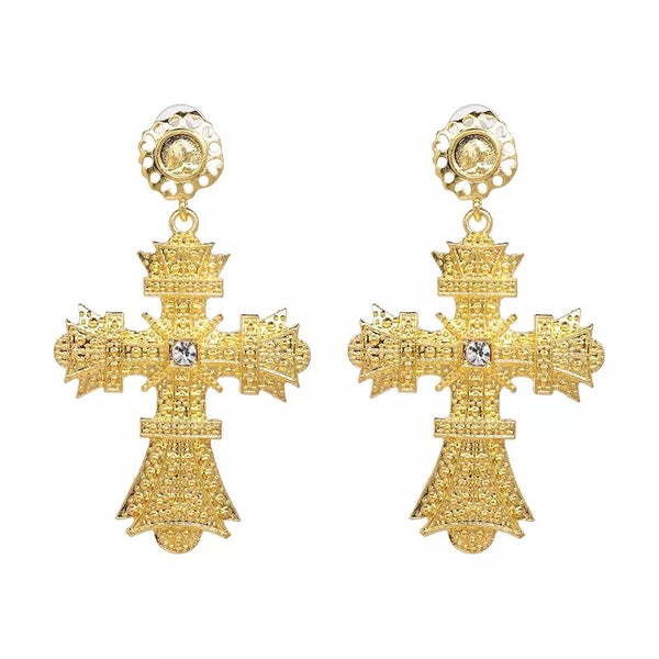 Sovereign Cross Earring Collection - 4 Choices!