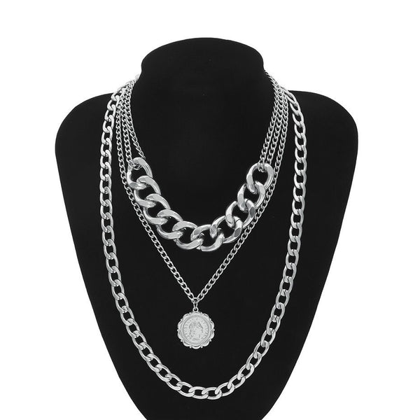 Letizia Layered Chain Necklace - Selling Out FAST!!! - The Songbird Collection