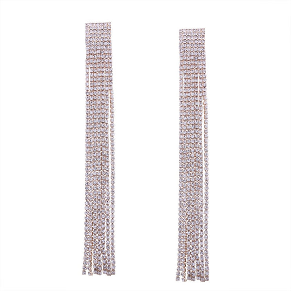 Reese Rhinestone Duster Earrings - RESTOCKED!! - The Songbird Collection