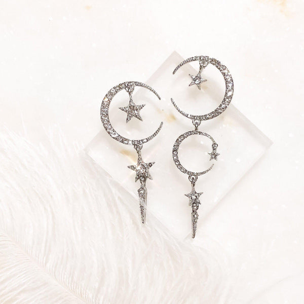 Starry Dreams Asymmetry Earrings