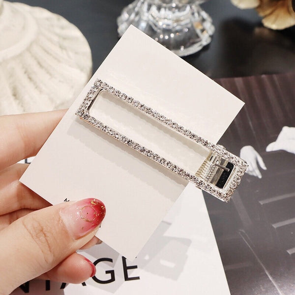 Rectangle Rhinestone Hair Clip - LAST CHANCE! Hurry, Low Stock! - The Songbird Collection