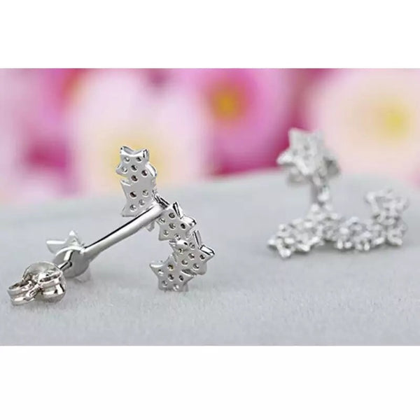 Shooting Stars Ear Jackets (925 Sterling Silver)