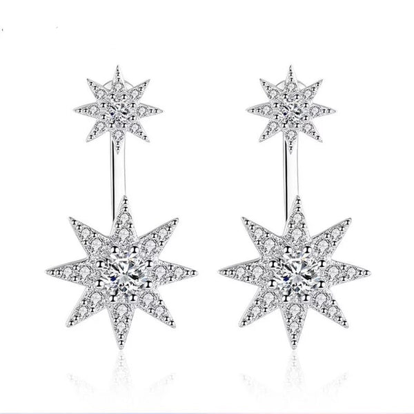 A Star Is Born Ear Jackets - 925 Sterling Silver - The Songbird Collection